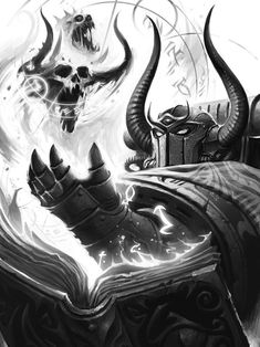 """""""Ahzek Ahriman, Chief Librarian of the Thousand Sons by Mikhail Savier (Internal Illustration for the HH Book The Crimson King) """" Warhammer 40k Memes, Warhammer Art, Warhammer Fantasy, Warhammer 40000, Warhammer Models, Space Marine, Beauty And The Beast Drawing, Thousand Sons, Age Of Sigmar"""