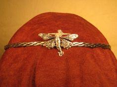 Silver fairy woven silver circlet by SpiritoftheGoddess on Etsy, $115.00