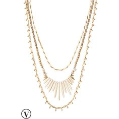 Stella & Dot Zuni Layering Necklace ($98) ❤ liked on Polyvore featuring jewelry, necklaces, vintage jewelry, tribal necklace, layered necklace, stella dot necklace and multi layer necklace