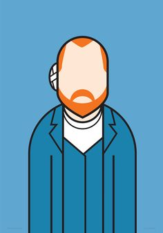 'Vincent Van Ghoh, illustration by Ale Giorgini, pop art, graphic design. Arte Van Gogh, Van Gogh Art, Vincent Van Gogh, Iphone Background Wallpaper, Embroidery Art, Portrait Art, Urban Art, Art Drawings, Illustration Art