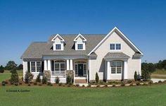 Elegant Curb Appeal (HWBDO12111) | Cottage House Plan from BuilderHousePlans.com