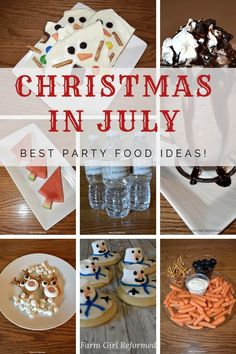 Christmas in July best party food ideas-Make sure you include these party food ideas in your Christmas in July celebration! farmgirlreformed.com Christmas Food Gifts, Christmas In July, Homemade Christmas Gifts, Christmas Candy, Kids Christmas, Homemade Gifts, All Things Christmas, Diy Gifts, Best Party Food