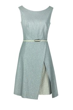 Sukienka Arsenia błękitny żakard Semper  #dress #metallic #jacquard #silver #babyblue #blue #fashion2016 #fashionbrand #occasionaldress #wedding #elegance #elegant #evening #designer #brand