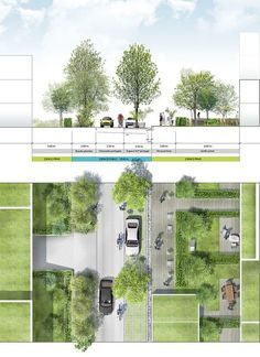 Coupe-plan sur voie tertiaire #landscapearchitectureplan