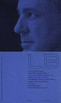 modernizor:Lester Beall, invitation, 1962via twitter.comLester Beall taught at Yale from 1954-1956
