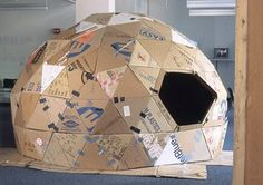geo dome by artist: Oscar Tuazon -- long live r. buckminster fuller