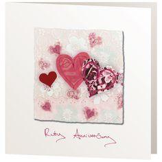 Handmade Cards - R11 Ruby Anniversary