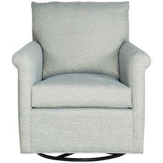Vanguard Furniture Nifty Sonata Blue Gwynn Swivel Glider. Details: - Fabric…