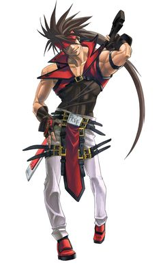 Sol Badguy - Character design and Art - Guilty Gear Isuka