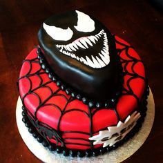 Black Venom/Spiderman Cake The cake Jackson wants for his birthday!