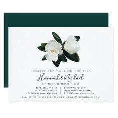 #Grandiflora Rehearsal Dinner Invitation - #flower #invitation #floral #invitations