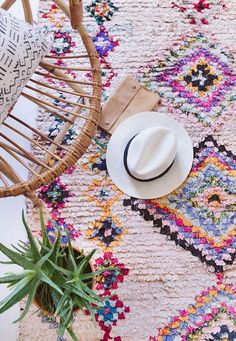 This New Pinterest Rug Trend Will Bring Both Color + Texture to Your Home via Brit + Co