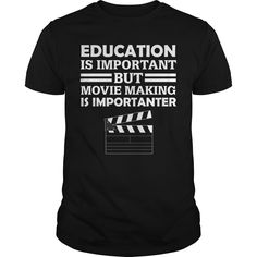 Get yours nice Education Is Important But Movie Best Gift Shirts & Hoodies.  #gift, #idea, #photo, #image, #hoodie, #shirt, #christmas