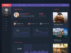 User Profile Concept for ongoing project Check attachment for real pixel and share your thought Thanks!