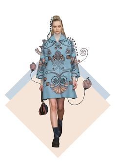 Fashion illustration - Flowers
