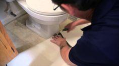 Learn how to install IVC US fiberglass sheet vinyl without removing the toilets! Simply cut around them. Toilet Decoration, Vinyl Sheet Flooring, Vinyl Sheets, Bathroom, Tips, Washroom, Full Bath, Bath, Bathrooms