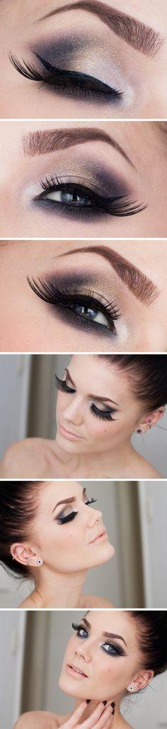 Tutoriales de maquillajes de ojos preciosos #makeup #tutorial Linda Hallberg