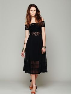 Free People Raven Off The Shoulder Dress at Free People Clothing Boutique