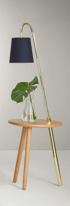 A floor lamp and table lamp, designed in collaboration with Kate Watson-Smyth.