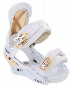 Burton Escapade Snowboard Bindings White/Gold