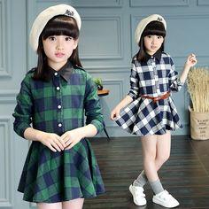 $33.31 (Buy here: https://alitems.com/g/1e8d114494ebda23ff8b16525dc3e8/?i=5&ulp=https%3A%2F%2Fwww.aliexpress.com%2Fitem%2FKids-Dress-Girl-Plaid-Long-Sleeve-Little-Teenage-Girls-Dresses-2016-Spring-Autumn-Kids-Clothes-Vetement%2F32717024598.html ) Kids Dress Girl Plaid Long Sleeve Little Teenage Girls Dresses 2016 Spring Autumn Kids Clothes Vetement Fille Children Clothing for just $33.31
