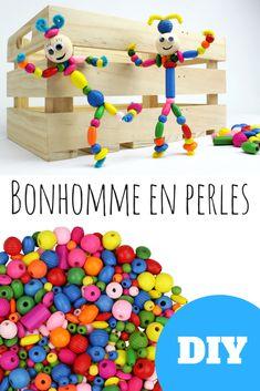 Découvrez un bricolage facile qui permettra aux enfants de fabriquer des personnages en perles rigolos. Une activité économique qui permettra aux enfants de s'amuser pendant des heures !