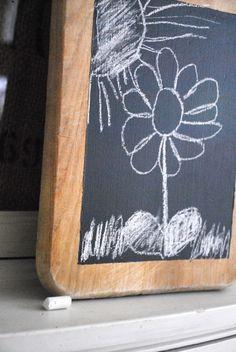 Cutting Board Chalkboard DIY Tutorial