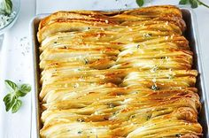 Crispy leaf potatoes with oregano salt. Photographed by Anson Smart