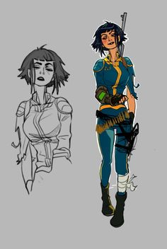 Female Character Design, Character Design References, Character Design Inspiration, Character Concept, Character Art, Writing Inspiration, Fallout 4 Concept Art, Fallout Posters, Fallout Fan Art