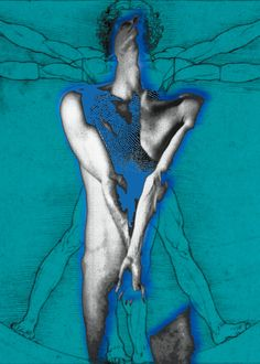 "Saatchi Online Artist: Photography Digital Art Carmen Fulle; /Digital, Photography ""In blue-Volviendo a nacer, azul.""///"