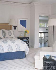 colors and upholstered headboard