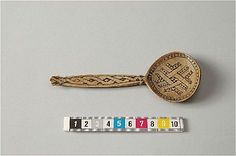 Bone/horn spoon. Viking Age to Early Middle ages.