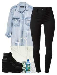 """""""6/19/15"""" by janiceeveillard ❤ liked on Polyvore featuring Monday, Yves Saint Laurent, J Brand and Timberland"""