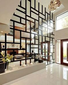 Home Room Design, Home Interior Design, Living Room Designs, Interior Livingroom, Apartment Interior, Living Room Partition Design, Room Partition Designs, Window Grill Design, Modern House Design