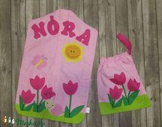 Óvodai zsák szett, tulipán ovis jellel, csigával, napocskával 4 betűs névvel (LucaAgi) - Meska.hu Summer Dresses, Sewing, Scrappy Quilts, Dressmaking, Summer Sundresses, Couture, Stitching, Summer Clothes, Summertime Outfits