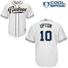 Men's San Diego Padres #10 Justin Upton White Jersey
