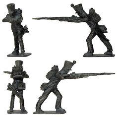 Soldado de la Línea disparando - 1815 (Stadden - 35 mm)