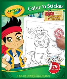 Crayola Jake and The Neverland Pirates Color 'n Sticker Books :: via Amazon.com