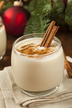 Puerto Rican Coquito Ingredients 2 cups coconut milk 1 (8.5 oz) can of coconut cream 1 (12 oz) can evaporated milk 1 (14 oz) can of condensed milk 1 spoon of vanilla 2 cinnamon sticks White rum to taste (I use 2 cups)   Procedure Mix all ingredients in a blender, chilled in the refrigerator for more than 2 hours and serve chilled. if you want you can sprinkle with a little cinnamon or grated chocolate.