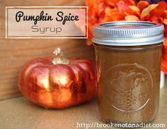 Pumpkin Spice Syrup by Brooke: Not On a Diet