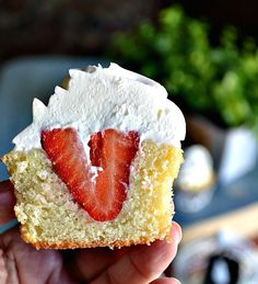 Who wants a bite of this Strawberry Shortcake Cupcake?