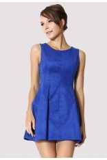 Party Queen A-line Dress in Blue #Chicwish