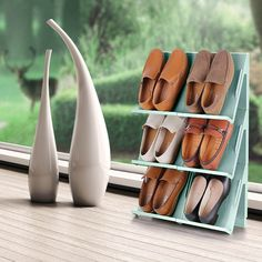 Are your shoes taking up too much room? Then the Fine Living Shoe Organiser is the perfect space-saving solution to keep your cupboard or bedroom neat and tidy and your prized shoes organised and protected.It's also easy to clean with just soap and water! Available in three awesome colours - Light Blue Light Colors, Colours, Light Blue, Shoe Organiser, Organizing, Organization, Neat And Tidy, Your Shoes, Space Saving