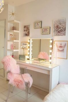 Am I too grown for this room? I need a room makeover. This is beautiful 💕   Cute Bedroom Ideas, Cute Room Decor, Girl Bedroom Designs, Room Ideas Bedroom, Teen Room Decor, Bedroom Decor, Ikea Teen Bedroom, Makeup Room Decor, Aesthetic Room Decor