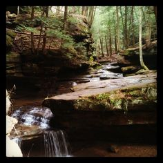 Water and Rocks, Hocking Hills Ohio  mt gf went here on her wedding! Beautiful scenery!