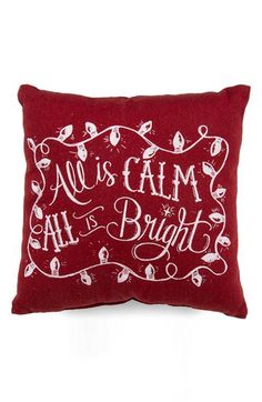 Primitives by Kathy 'All Is Calm' Pillow   Nordstrom