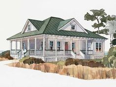 Cottage house plans on pinterest house plans square for Inlet retreat house plan