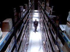 The X Files: secret file in the Pentagon, where many boxes containing evidence could be found