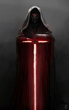 Lord Revan with Kylo Ren type lightsaber