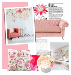 """""""Blossom"""" by groove-muffin ❤ liked on Polyvore featuring interior, interiors, interior design, home, home decor and interior decorating"""